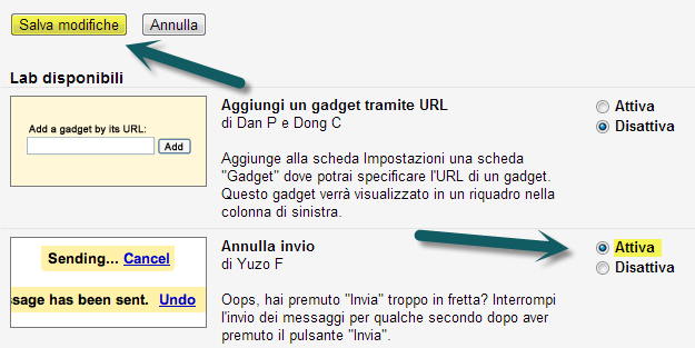 Salva Modifiche GMail