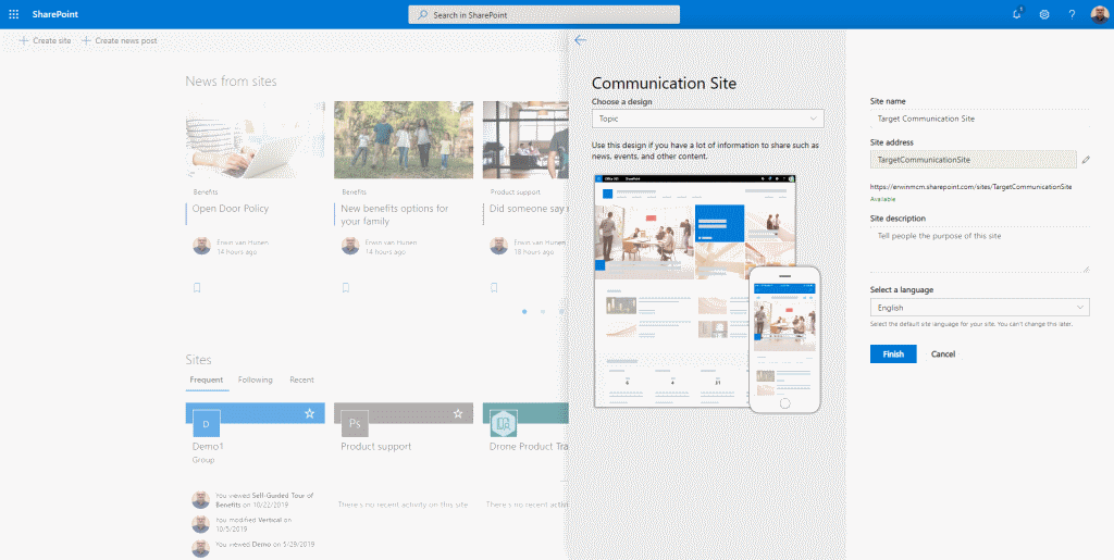 Governance di Sharepoint Online: provisioning